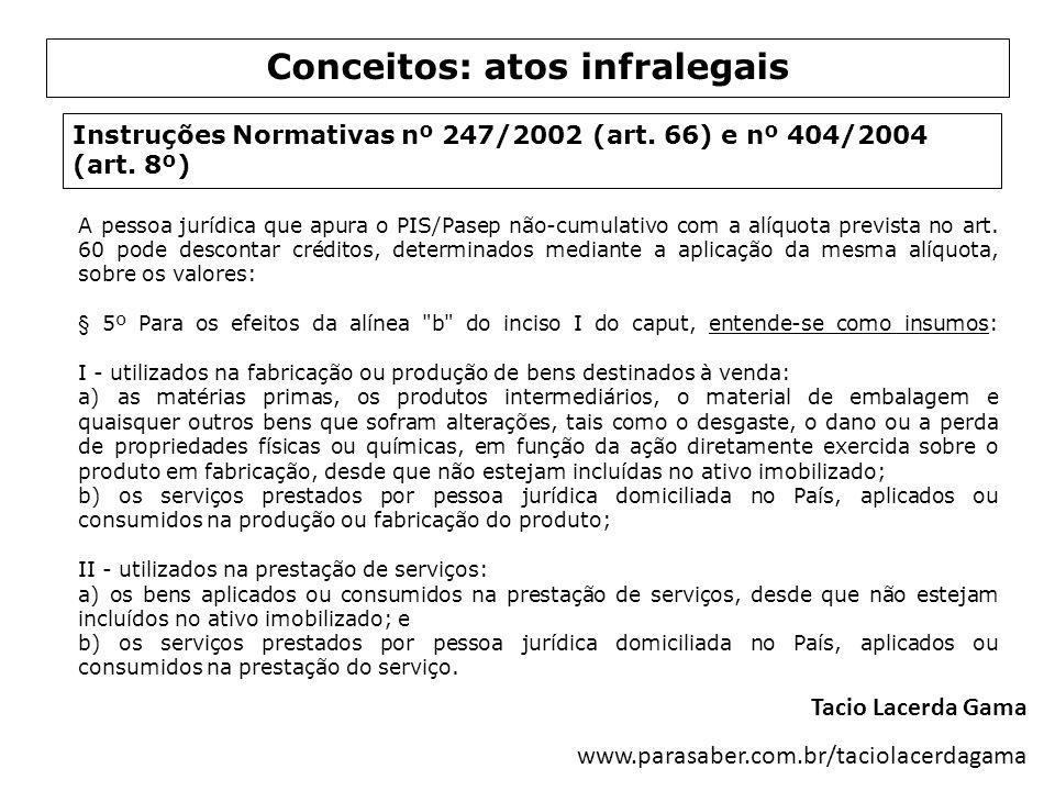 Conceitos: atos infralegais