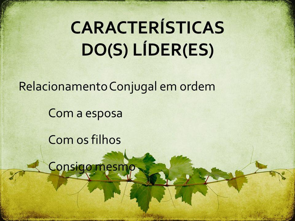 CARACTERÍSTICAS DO(S) LÍDER(ES)