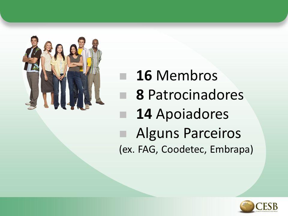 16 Membros 8 Patrocinadores 14 Apoiadores Alguns Parceiros