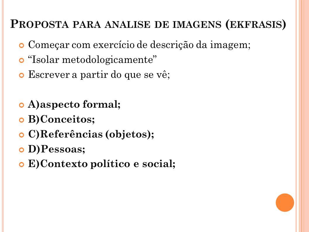 Proposta para analise de imagens (ekfrasis)