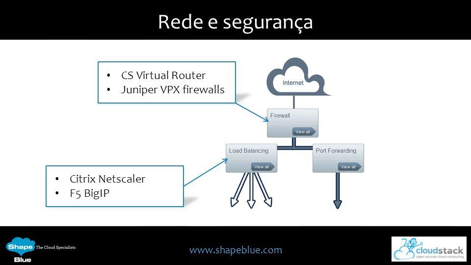 Rede e segurança CS Virtual Router Juniper VPX firewalls