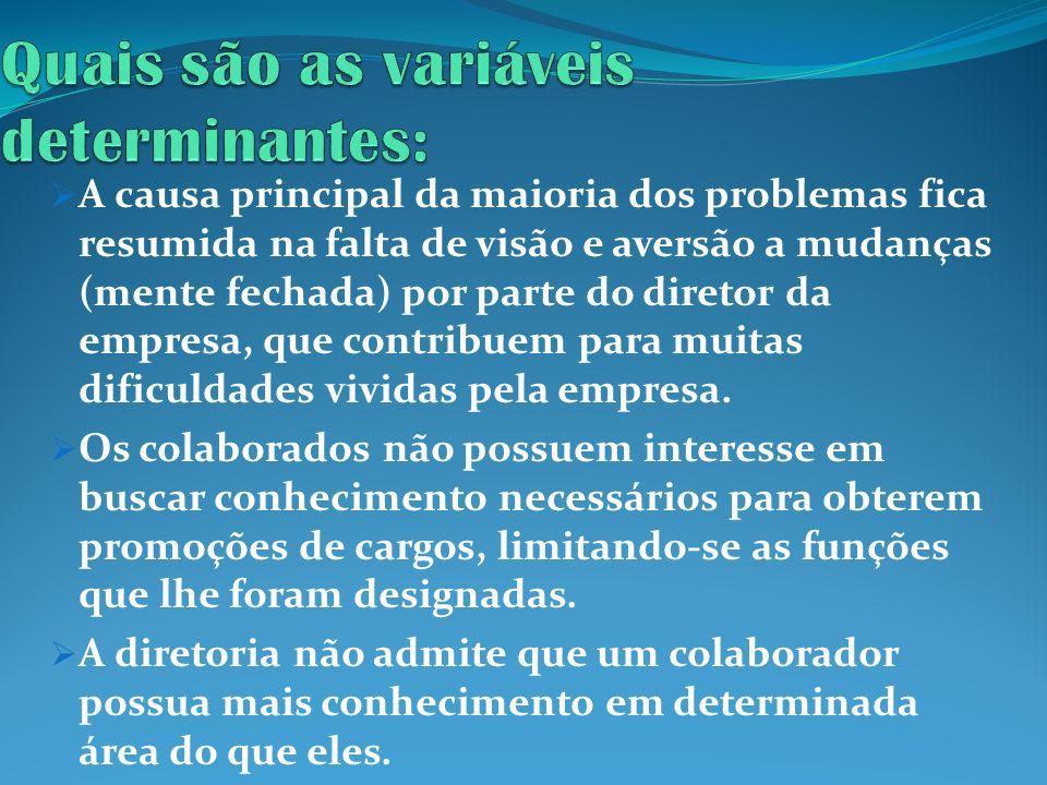 Quais são as variáveis determinantes: