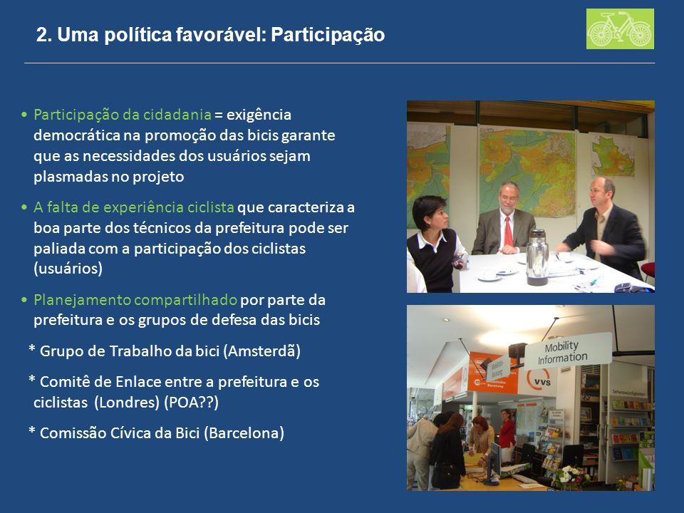 2. Uma política favorável: Participação