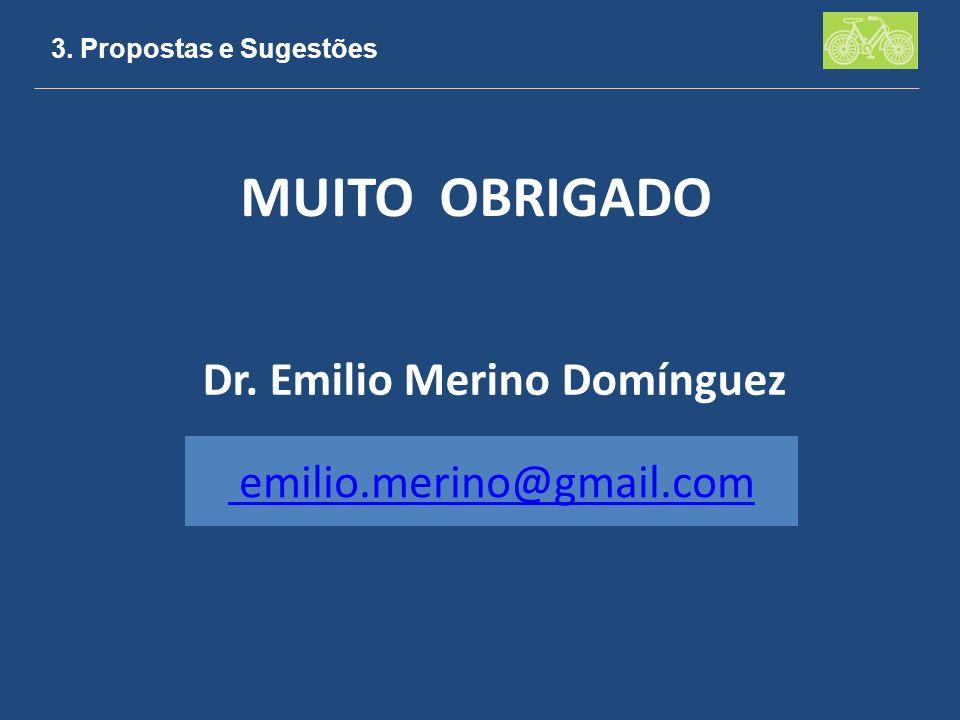 MUITO OBRIGADO Dr. Emilio Merino Domínguez emilio.merino@gmail.com