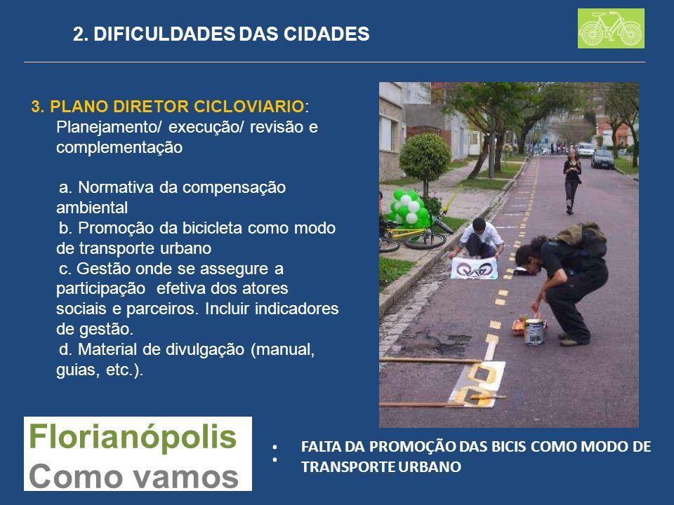 : Florianópolis Como vamos 2. DIFICULDADES DAS CIDADES