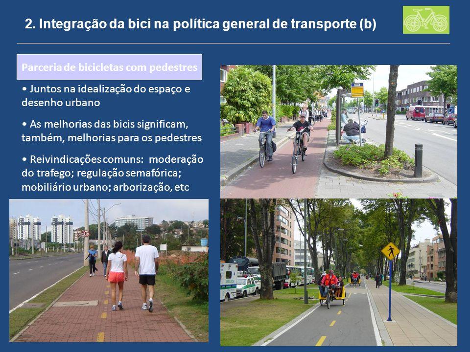 2. Integração da bici na política general de transporte (b)