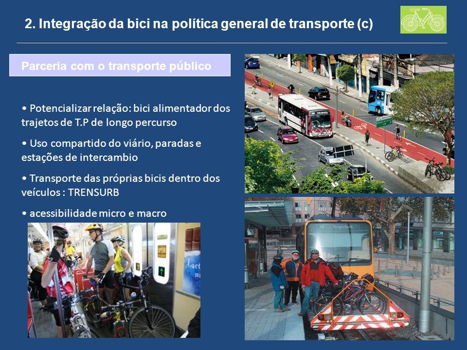 2. Integração da bici na política general de transporte (c)