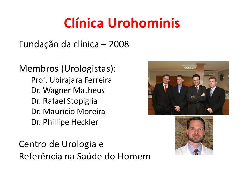 Clínica Urohominis Fundação da clínica – 2008 Membros (Urologistas):