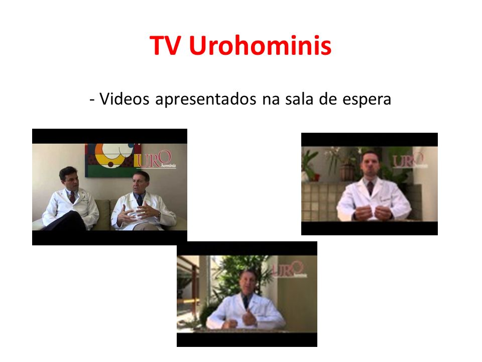 TV Urohominis - Videos apresentados na sala de espera