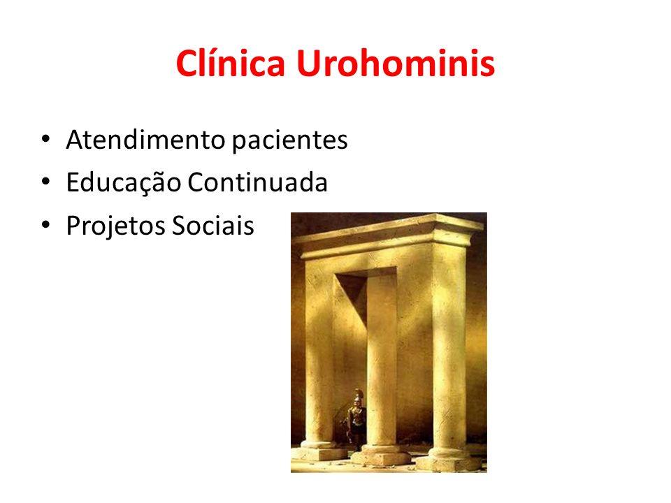 Clínica Urohominis Atendimento pacientes Educação Continuada