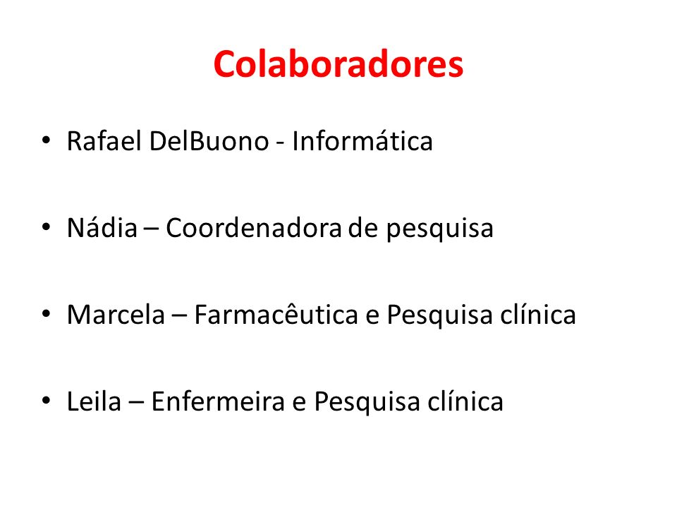 Colaboradores Rafael DelBuono - Informática