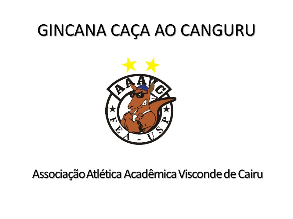 GINCANA CAÇA AO CANGURU