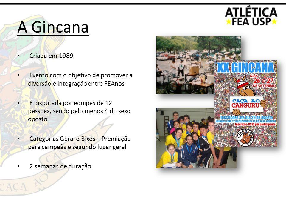 A GincanaCriada em 1989. Evento com o objetivo de promover a diversão e integração entre FEAnos.