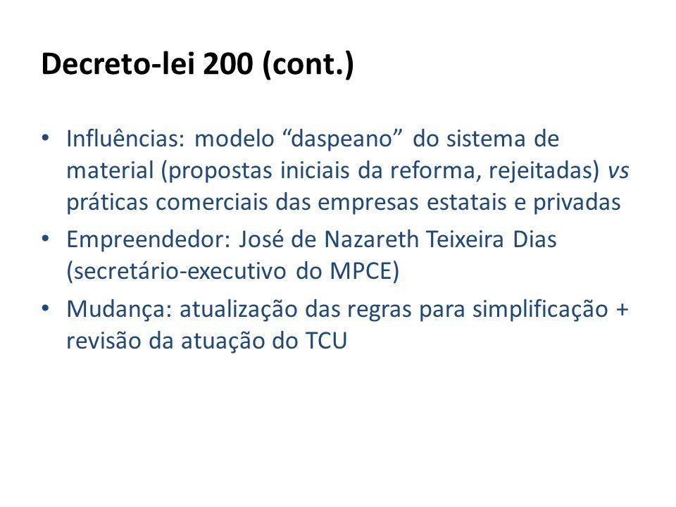Decreto-lei 200 (cont.)