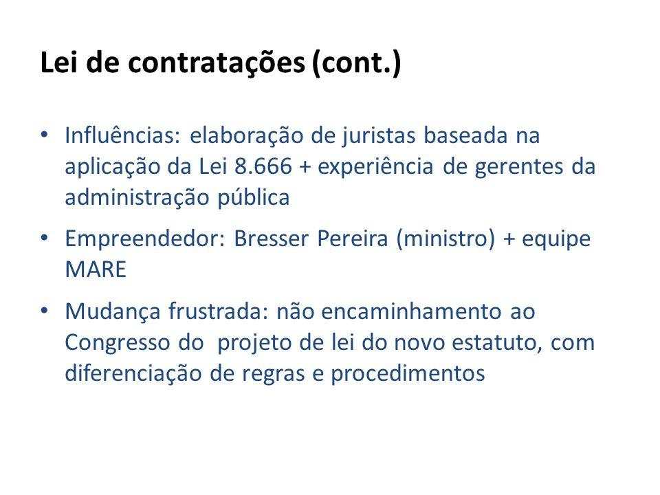Lei de contratações (cont.)