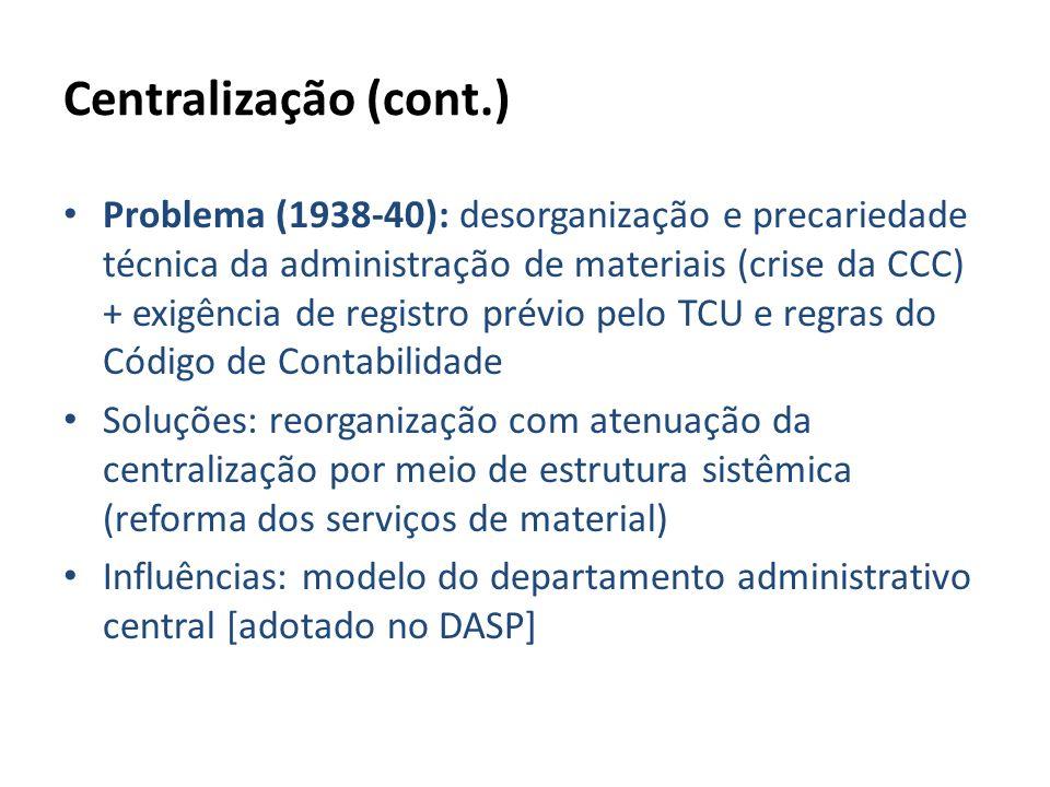Centralização (cont.)