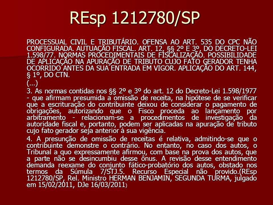 REsp 1212780/SP
