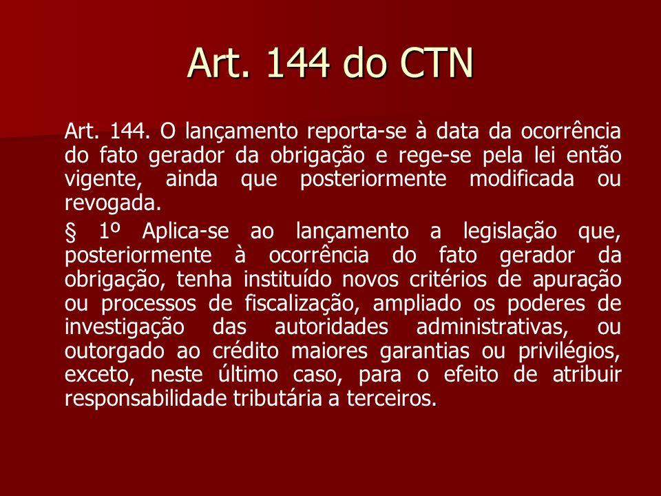 Art. 144 do CTN