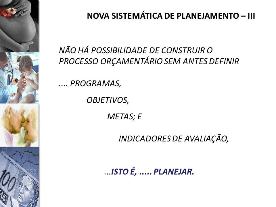 NOVA SISTEMÁTICA DE PLANEJAMENTO – III