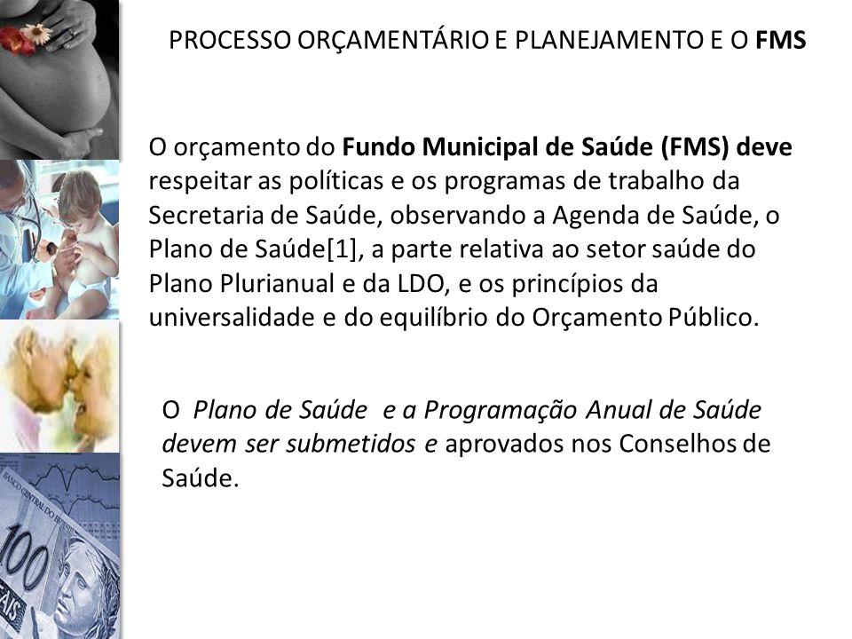 PROCESSO ORÇAMENTÁRIO E PLANEJAMENTO E O FMS