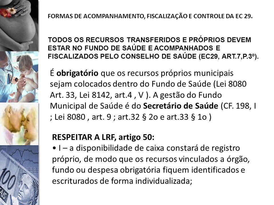 RESPEITAR A LRF, artigo 50:
