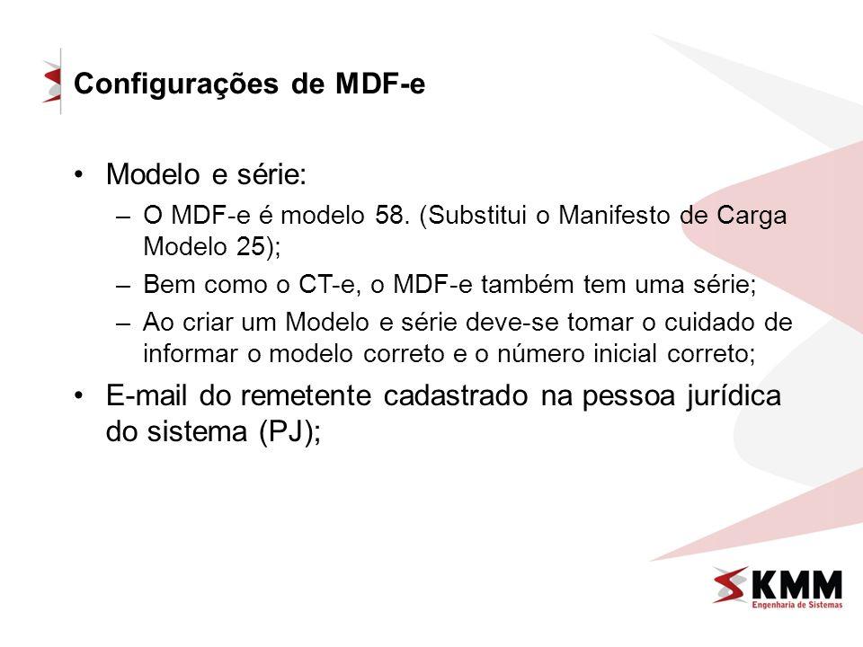 Configurações de MDF-e
