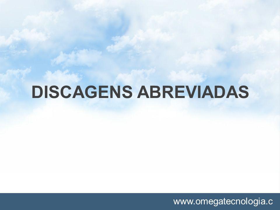 DISCAGENS ABREVIADAS