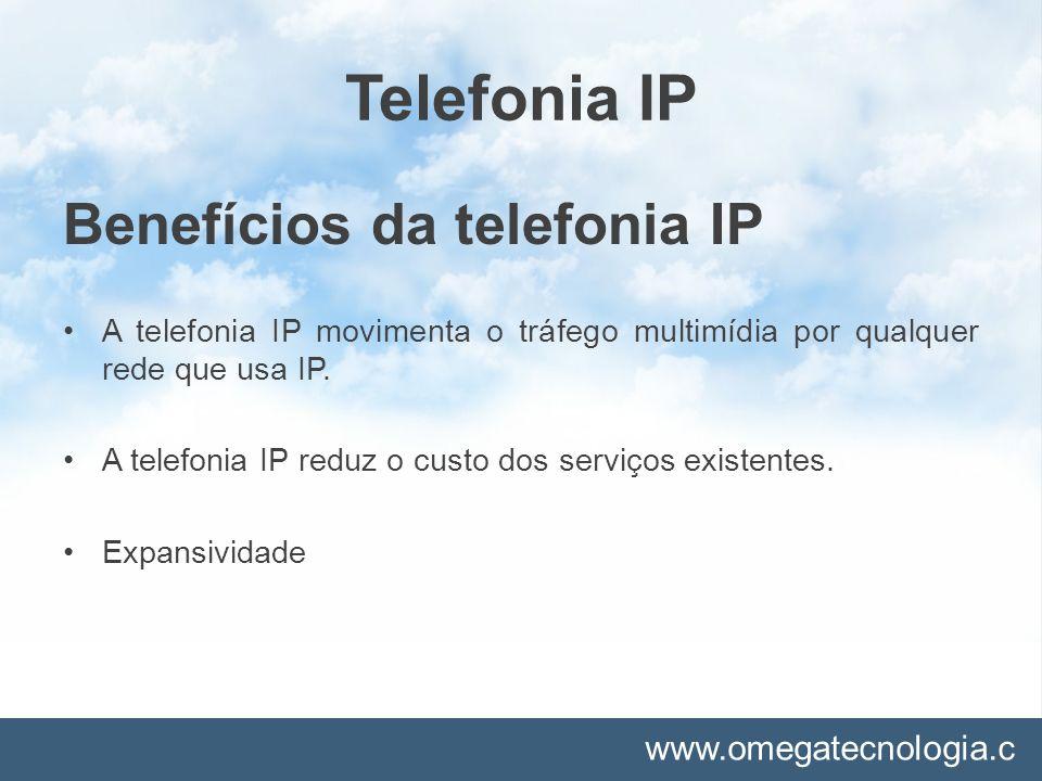 Telefonia IP Benefícios da telefonia IP
