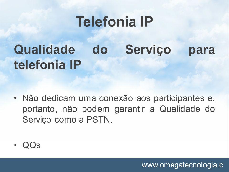 Telefonia IP Qualidade do Serviço para telefonia IP