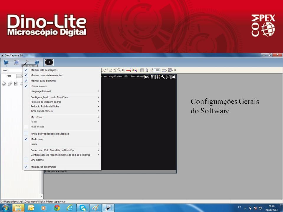 Configurações Gerais do Software