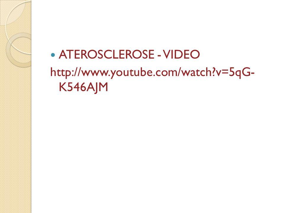 ATEROSCLEROSE - VIDEO http://www.youtube.com/watch v=5qG- K546AJM