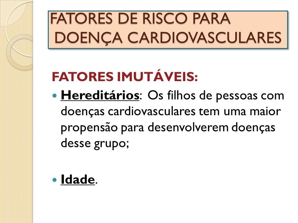 FATORES DE RISCO PARA DOENÇA CARDIOVASCULARES