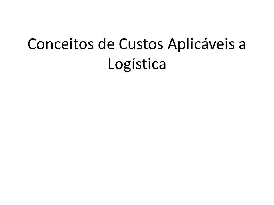 Conceitos de Custos Aplicáveis a Logística
