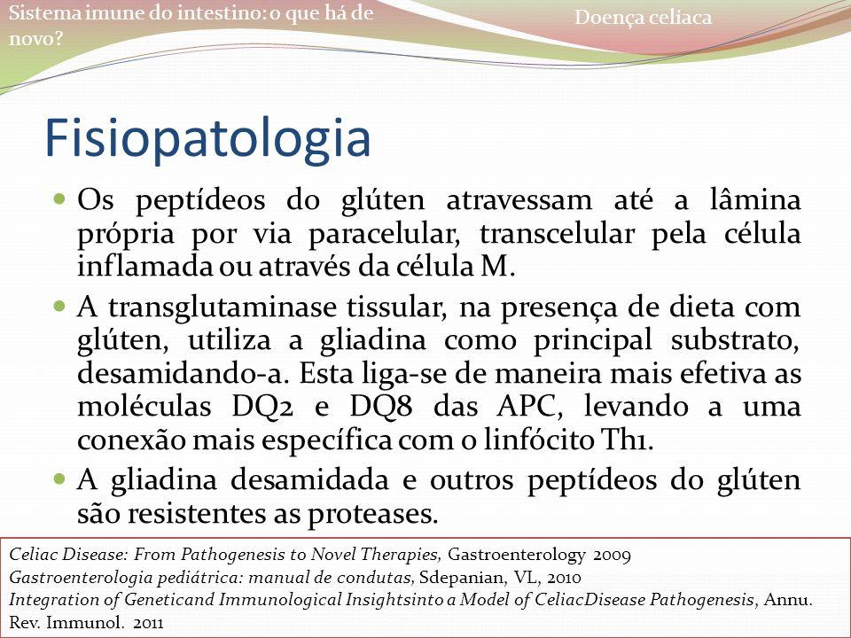 Doença celíaca Fisiopatologia.