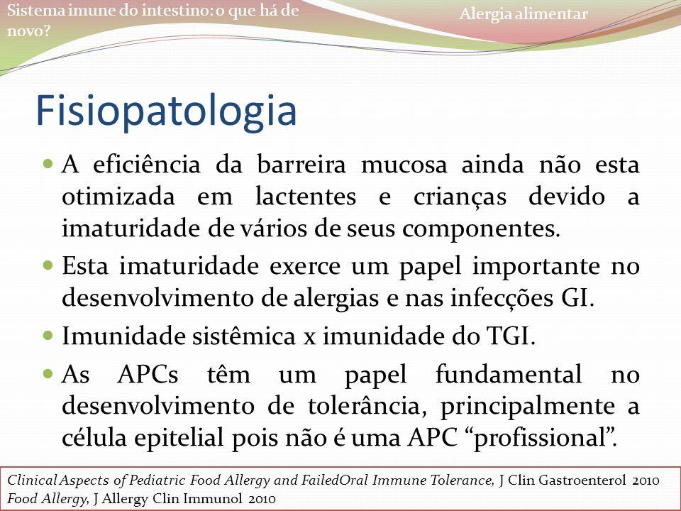 Alergia alimentar Fisiopatologia.