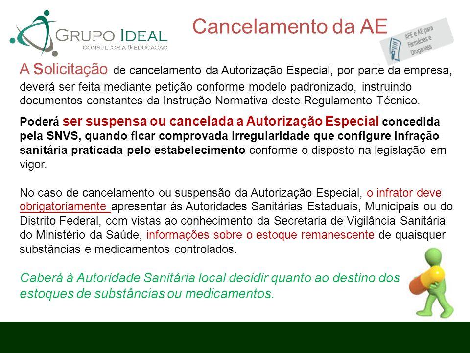 Cancelamento da AE
