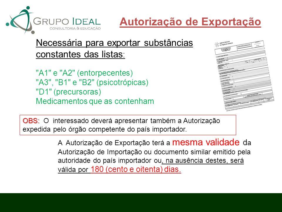 Autorização de Exportação