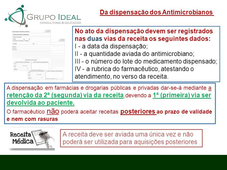 Da dispensação dos Antimicrobianos