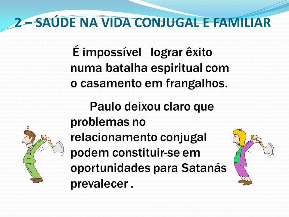 2 – SAÚDE NA VIDA CONJUGAL E FAMILIAR