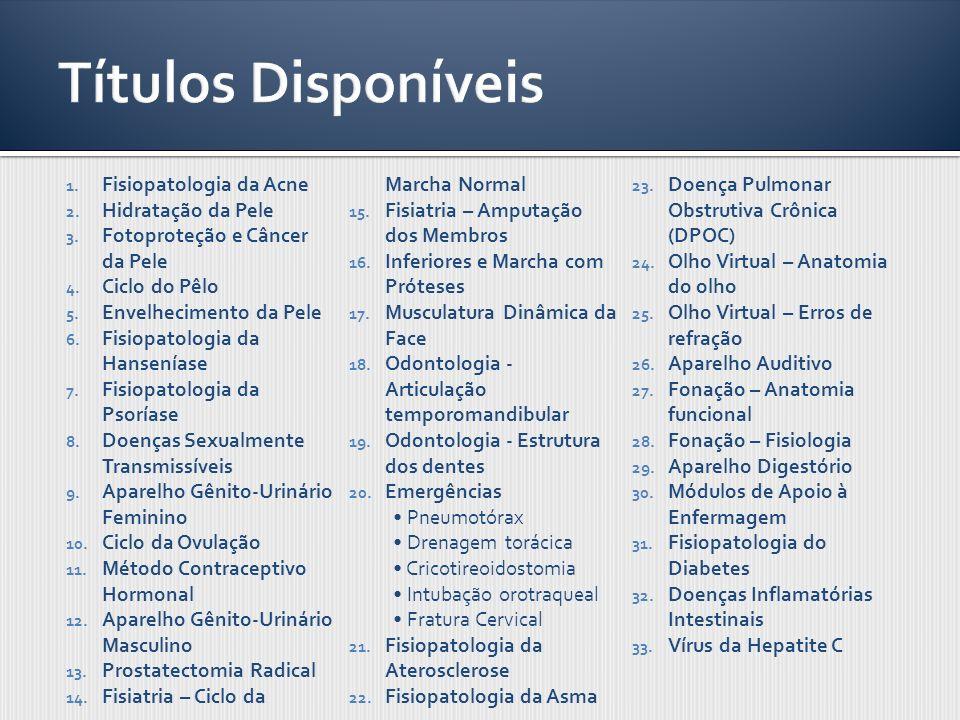 Títulos Disponíveis Fisiopatologia da Acne