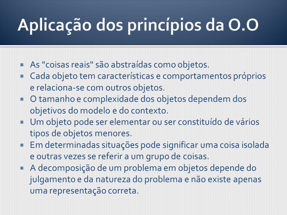 Aplicação dos princípios da O.O