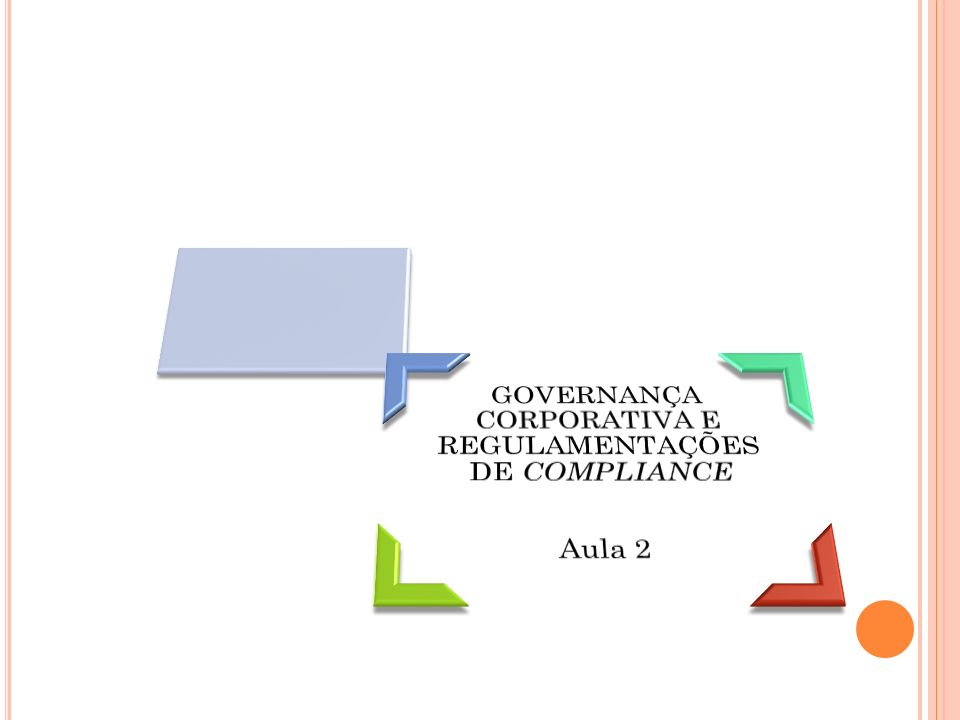 GOVERNANÇA CORPORATIVA E REGULAMENTAÇÕES DE COMPLIANCE