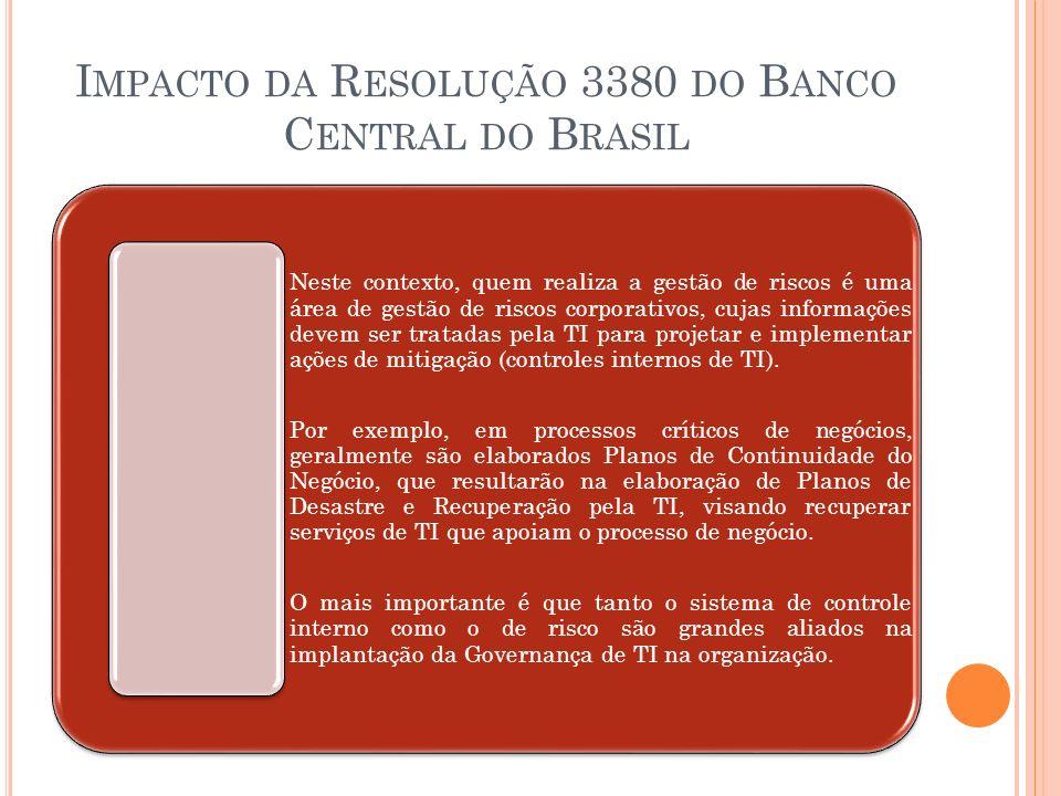 Impacto da Resolução 3380 do Banco Central do Brasil