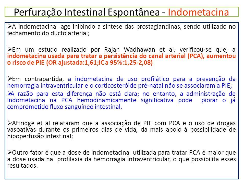 Perfuração Intestinal Espontânea - Indometacina