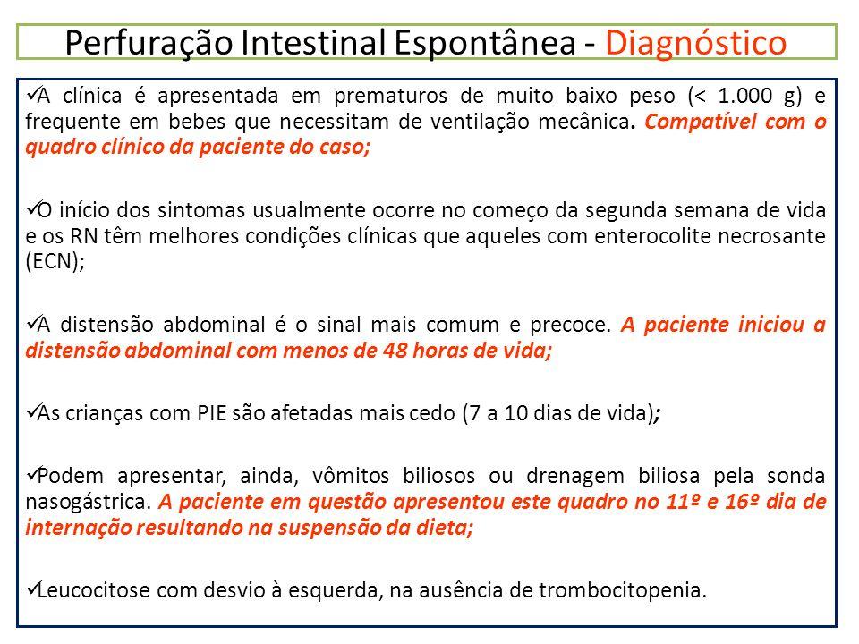 Perfuração Intestinal Espontânea - Diagnóstico