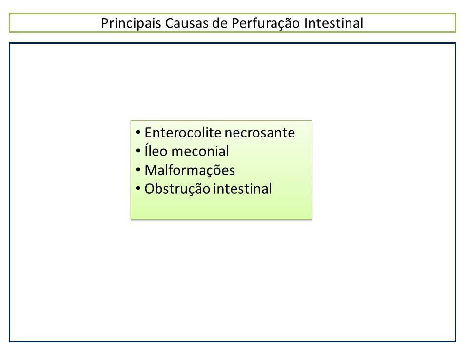 Principais Causas de Perfuração Intestinal