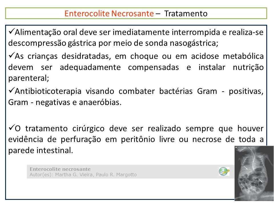 Enterocolite Necrosante – Tratamento