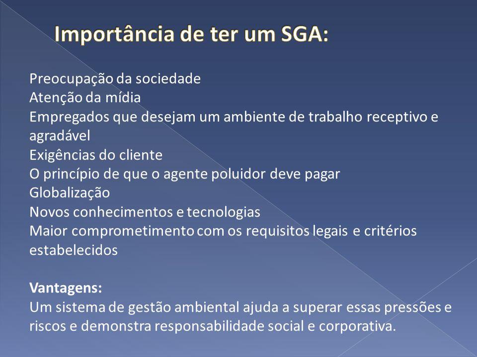 Importância de ter um SGA: