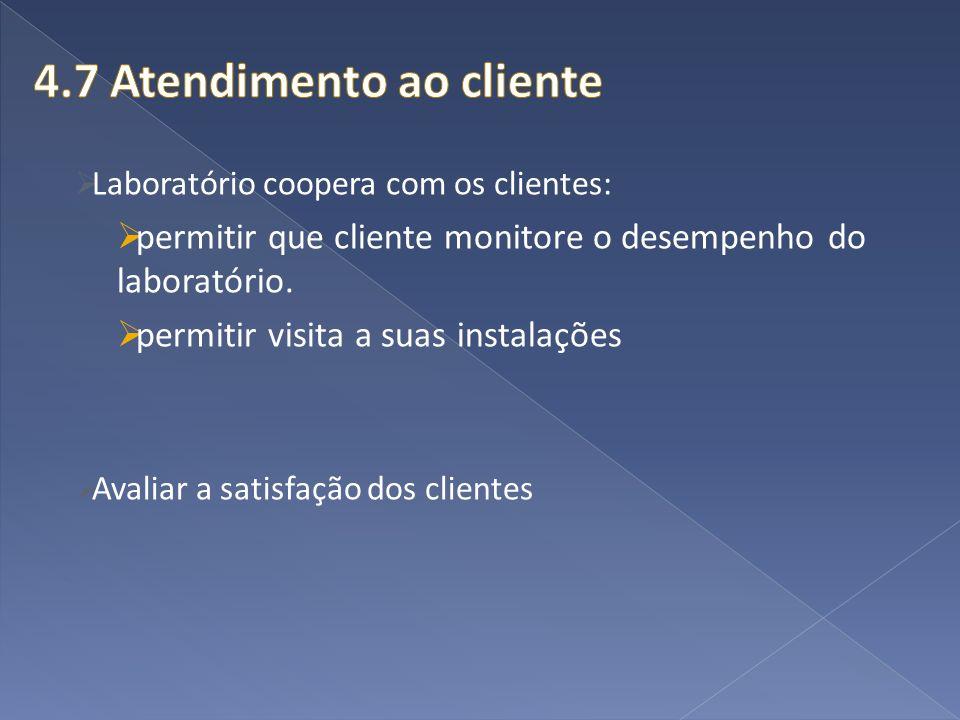 4.7 Atendimento ao cliente