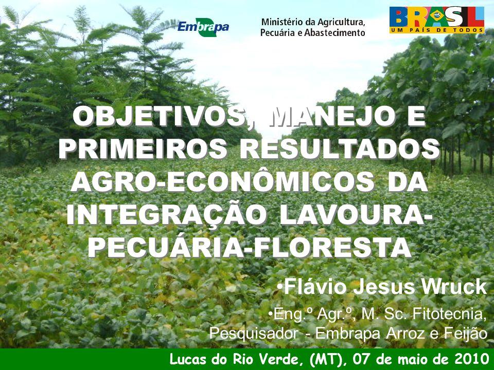 OBJETIVOS, MANEJO E PRIMEIROS RESULTADOS AGRO-ECONÔMICOS DA INTEGRAÇÃO LAVOURA-PECUÁRIA-FLORESTA